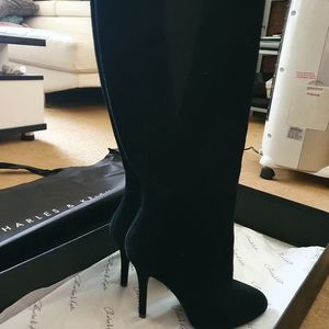 Charles and keith Suede calf boot